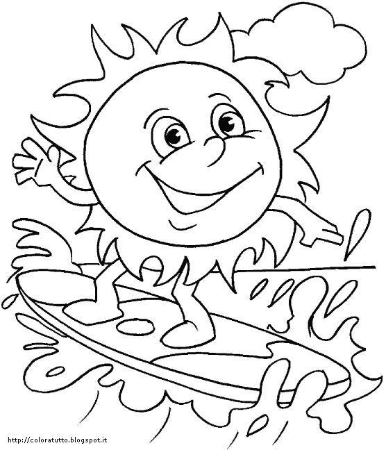 disegni da colorare estate disney