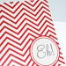 Customized Chevron Notecards from Fanfare Designs