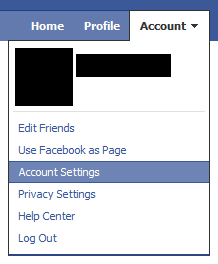 account setting open Amankan Akun Facebook Dari Hacker
