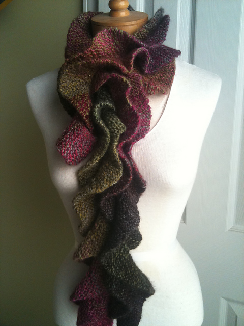 Knitting Pattern For Potato Chip Scarf : Purple Iris yarn shop: September 2012