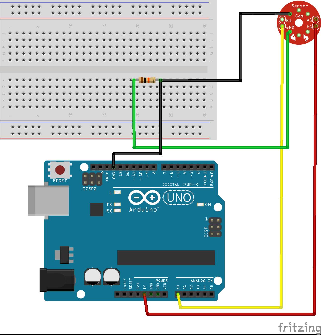 Progetto etilometro con un sensore mq arduino per