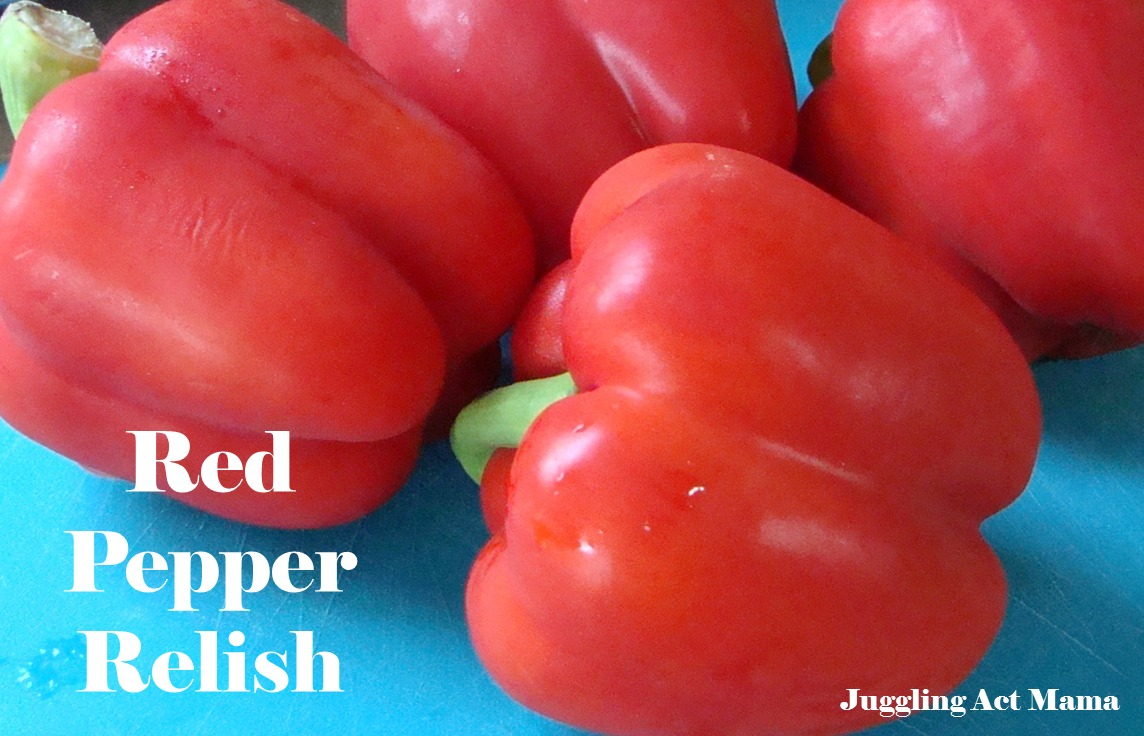 how to make red pepper relish