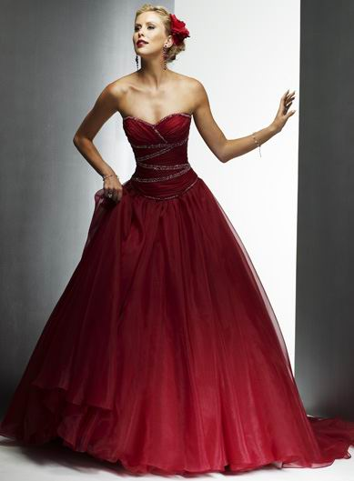 La robe de mariage rouge