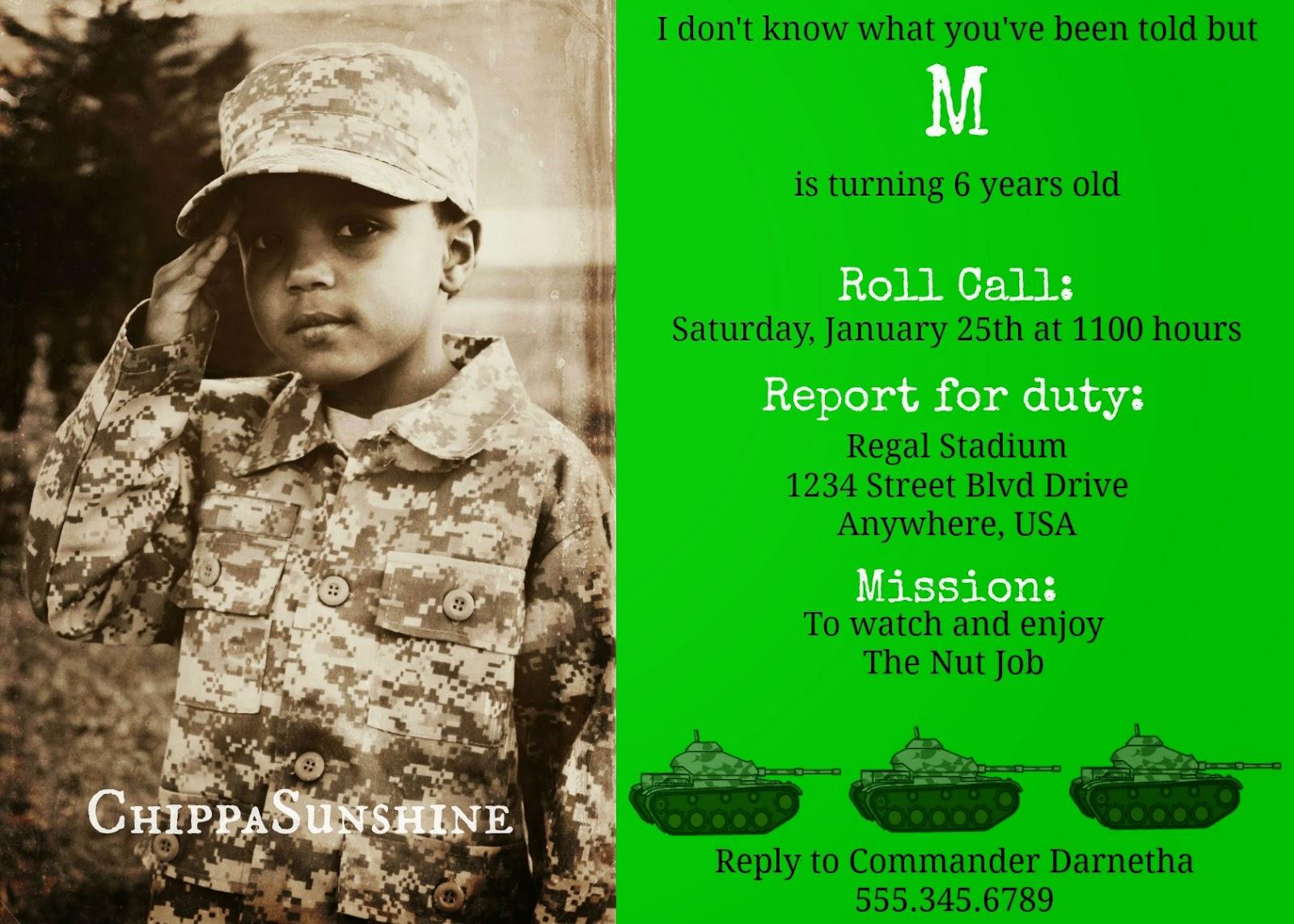 Army Birthday Invitations with beautiful invitations ideas