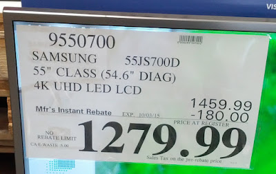 Deal for the Samsung 55JS700D 55 inch tv at Costco