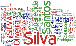 Os 10 sobrenomes mais usados aqui no Brasil