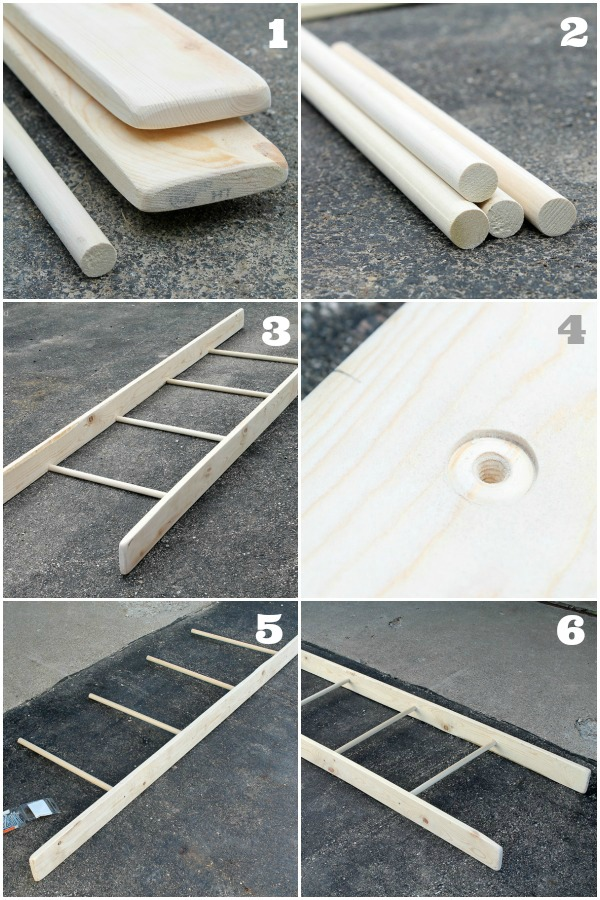 Learn how to make a DIY Decorative Ladder with this simple, step-by ...