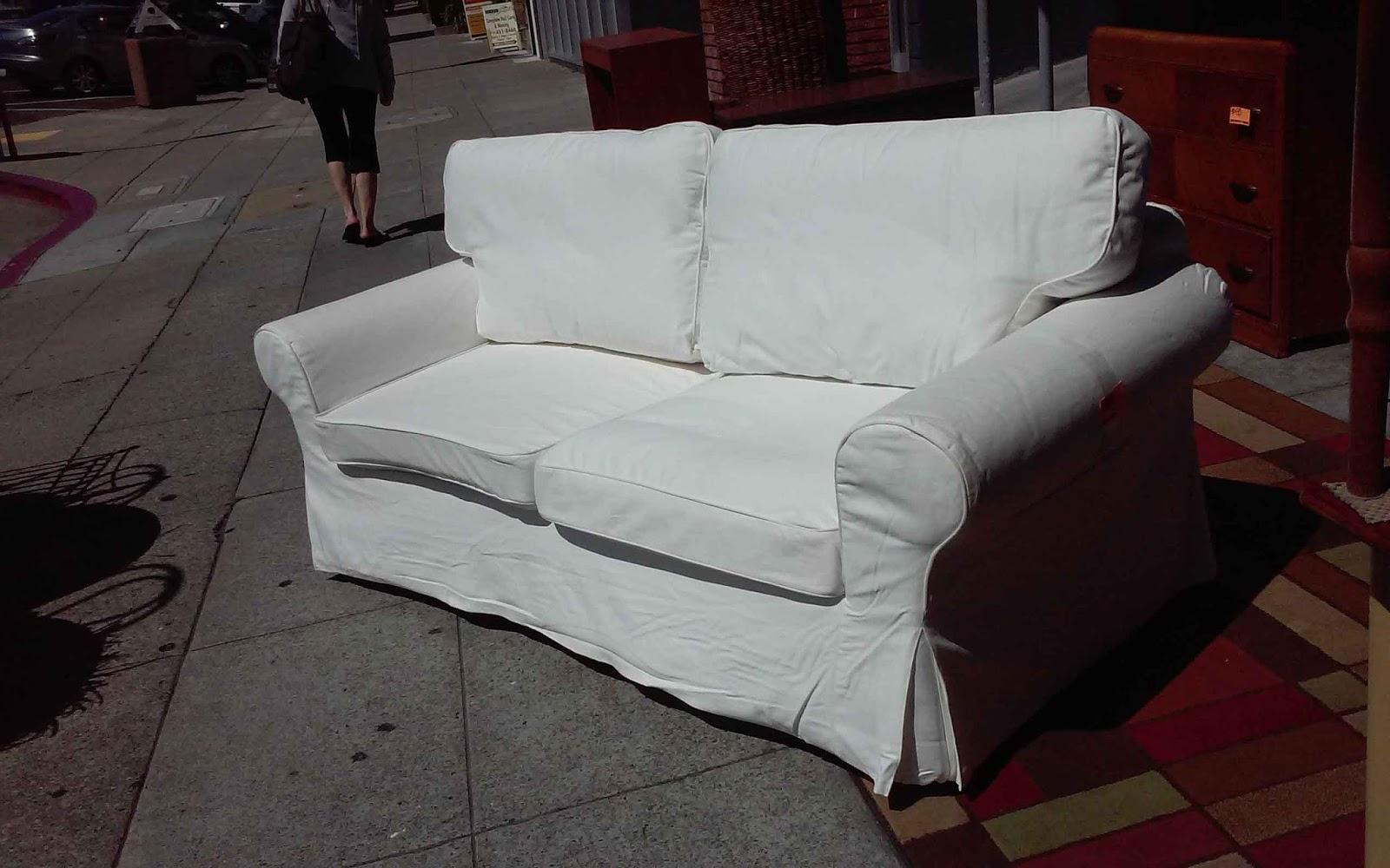Uhuru Furniture Collectibles Sold White Ikea Sofa Bed