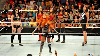 Raw NXT Sasha Charlotte Paige Stephanie Bella McMahon