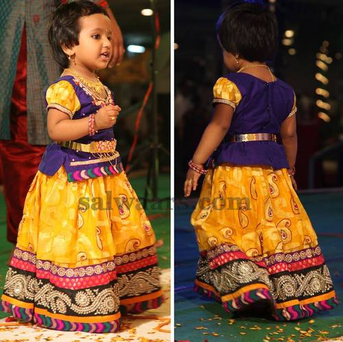 Baby in Party Wear Pavada