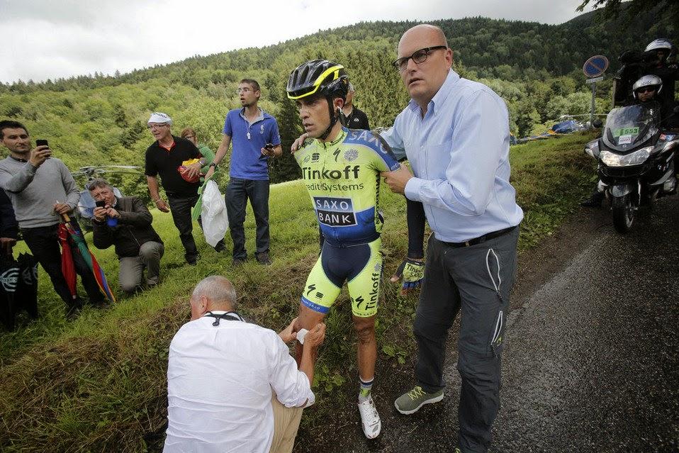 CICLISMO - El Tour se despide de Contador