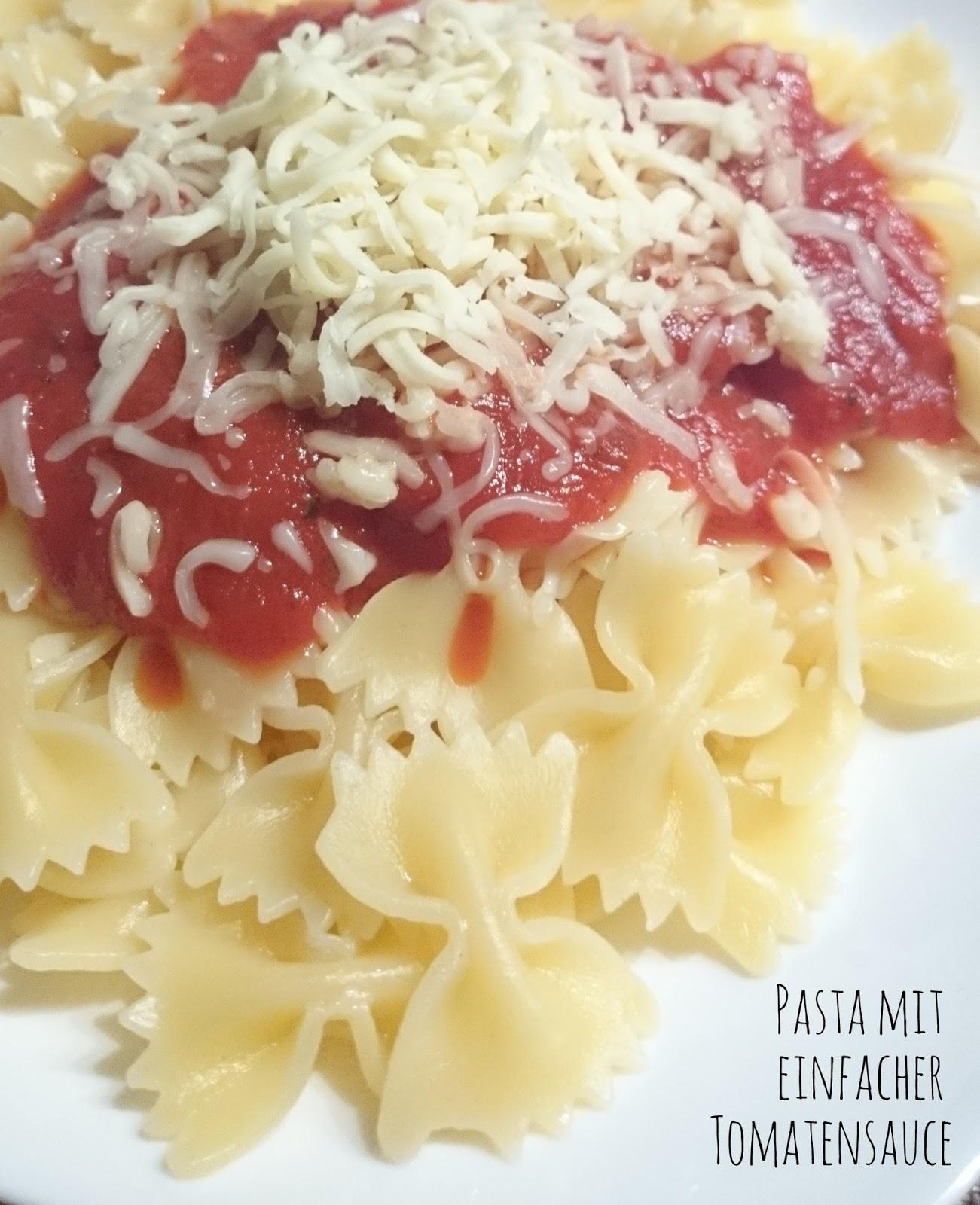 Rezept Pasta mit einfacher Tomatensauce