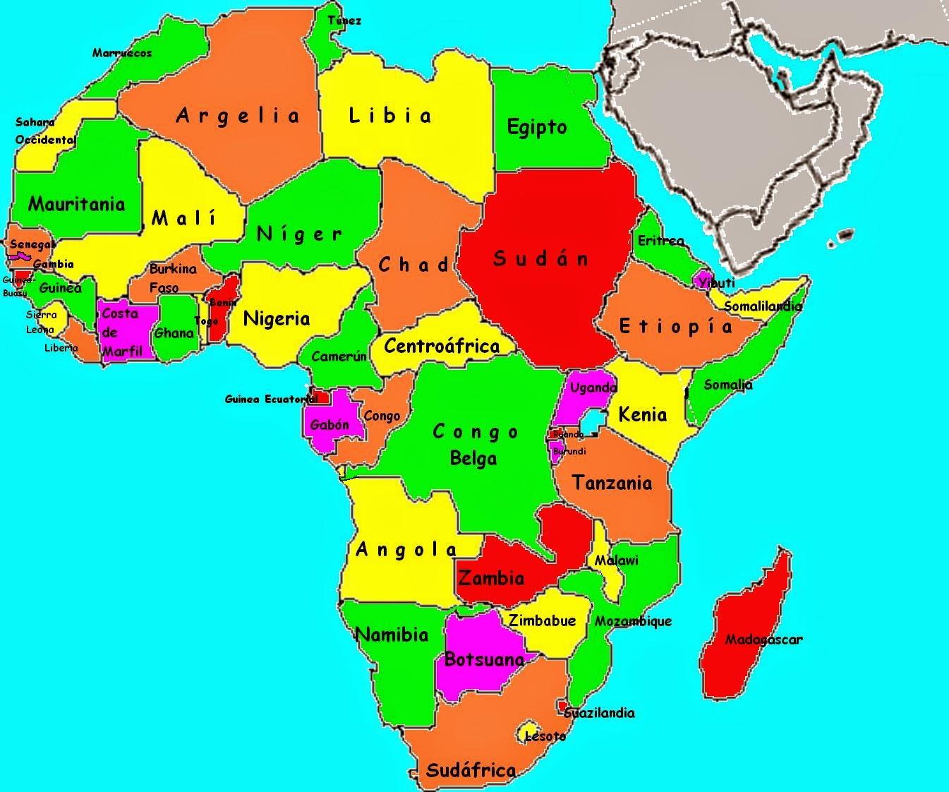 El rincn africano de Josean Conoces el mapa de frica