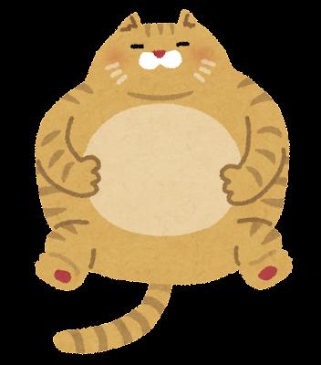 太った猫のイラスト