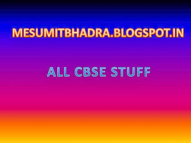 ALL CBSE  STUFF  ©