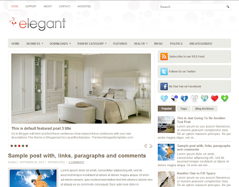 Elegant Blogger Theme
