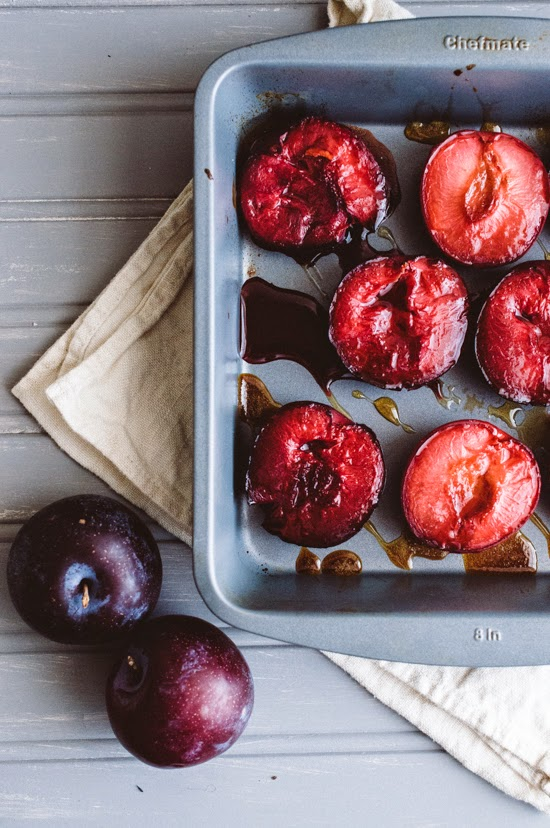 Instead, I made these roasted plums and topped them coconut yogurt & a ...