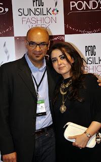 Tahir Saeed with Maria B PFDC Sunsilk Fashion Week 2011   Red Carpet DAY 1 & 2