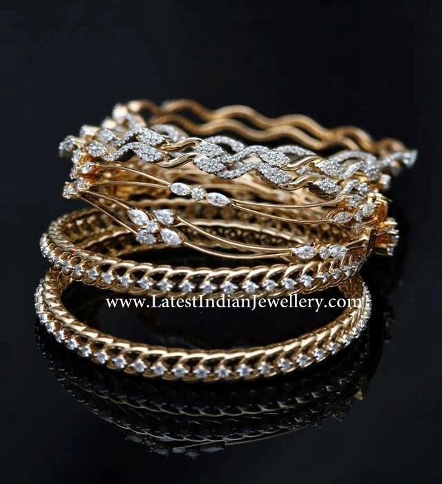 Indian Diamond Bangles Collection
