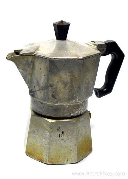 Italian Coffee Maker Aluminum : Natural Polish For Aluminum & Restore a Moka Pot RetroFixes