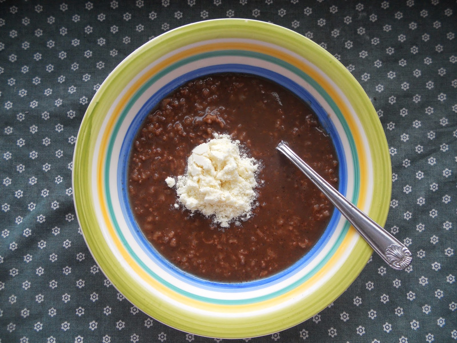 Filipino Rice-Chocolate Porridge or Champorado
