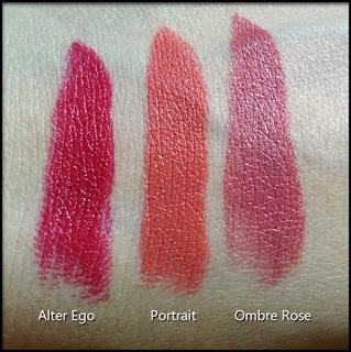 Nabla Cosmetics - Diva Crime Lipsticks - Alter Ego, Portrait e Ombre Rose - Swatches a luce naturale