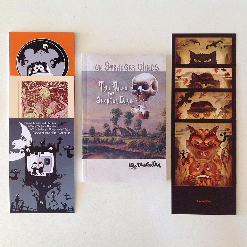 The full set contains 14 Cornish Litany cards, 4 Halloween cards, and a Halloween themed book Tall Tales Shorter Days