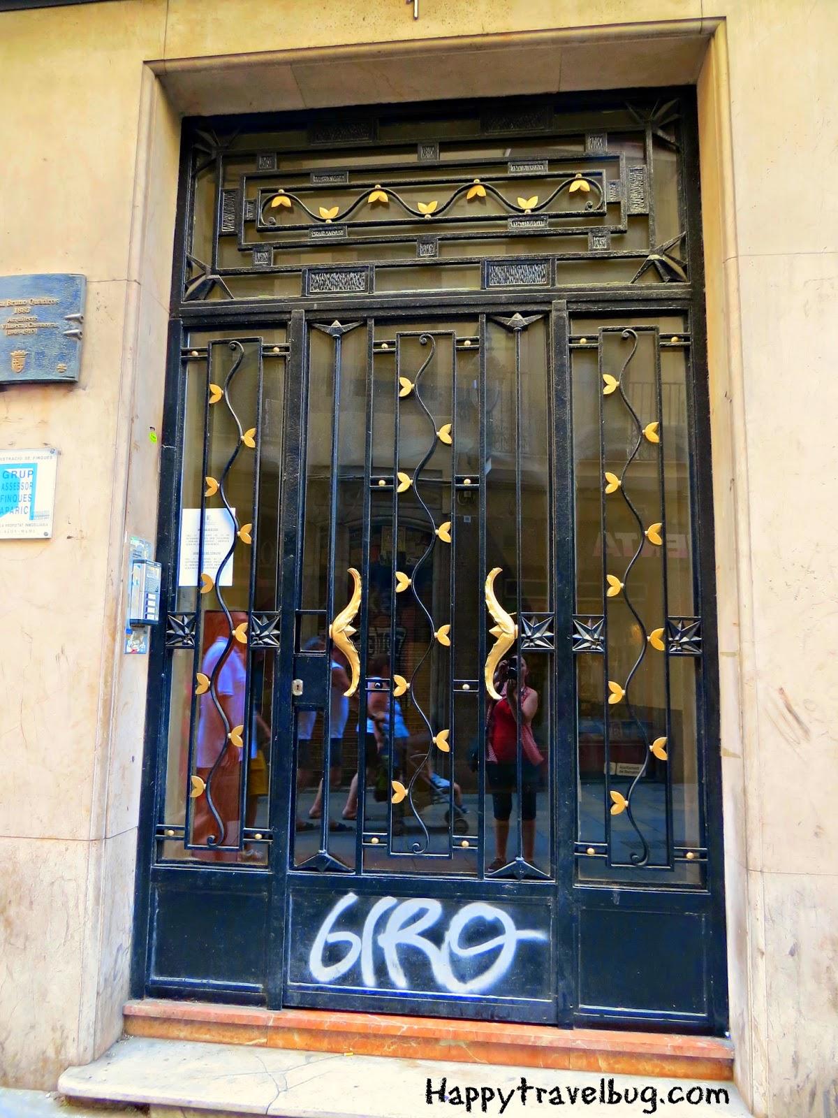 Metal door with hearts in Barcelona, Spain