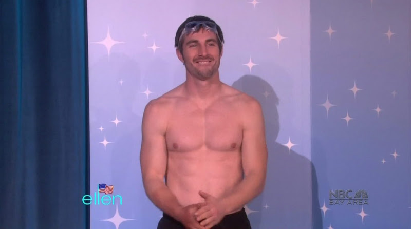 Shirtless Hunk on The Ellen DeGeneres Show 20110221