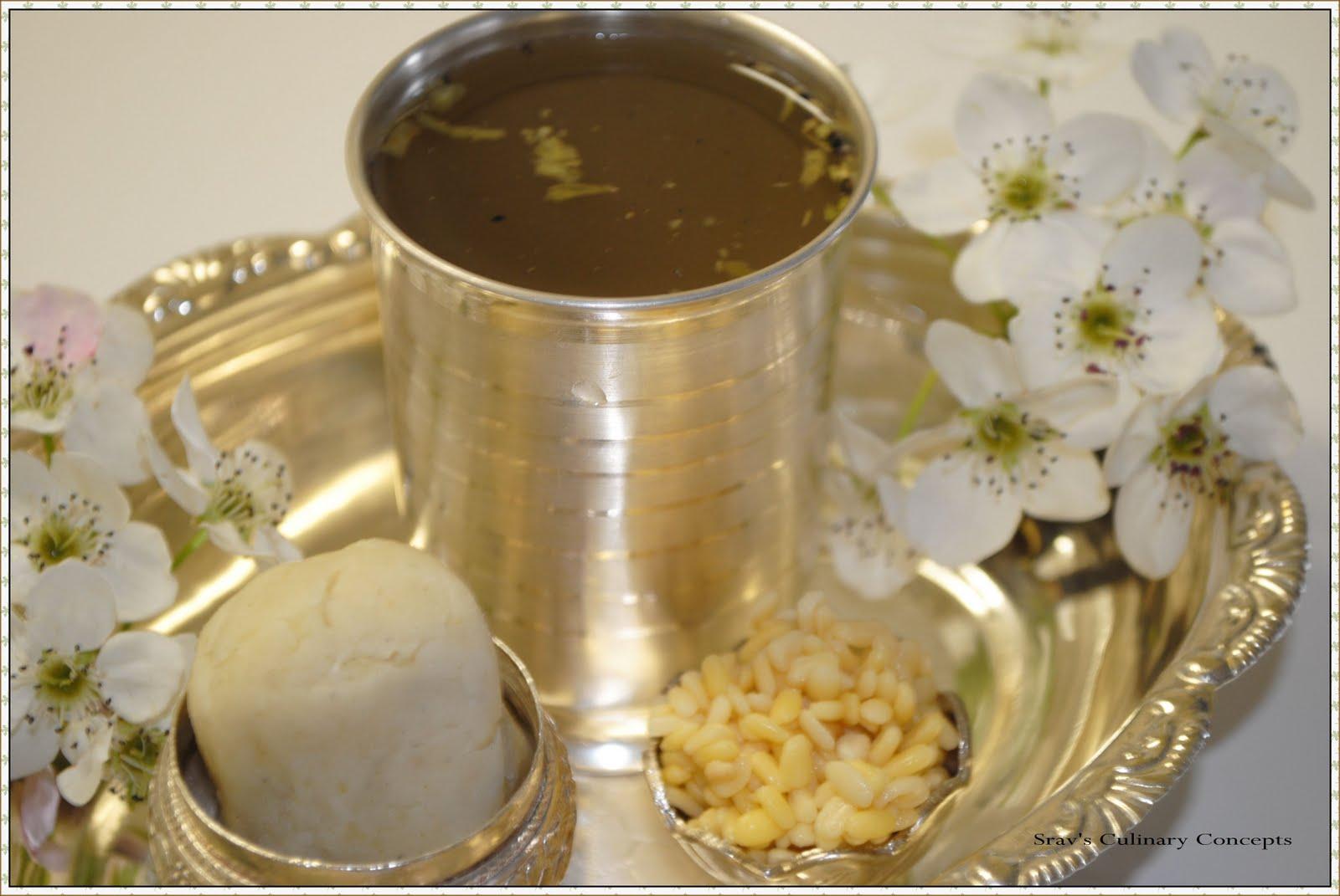 Sravs culinary concepts panakam vadapappu chalimidi sri rama ingredients forumfinder Gallery