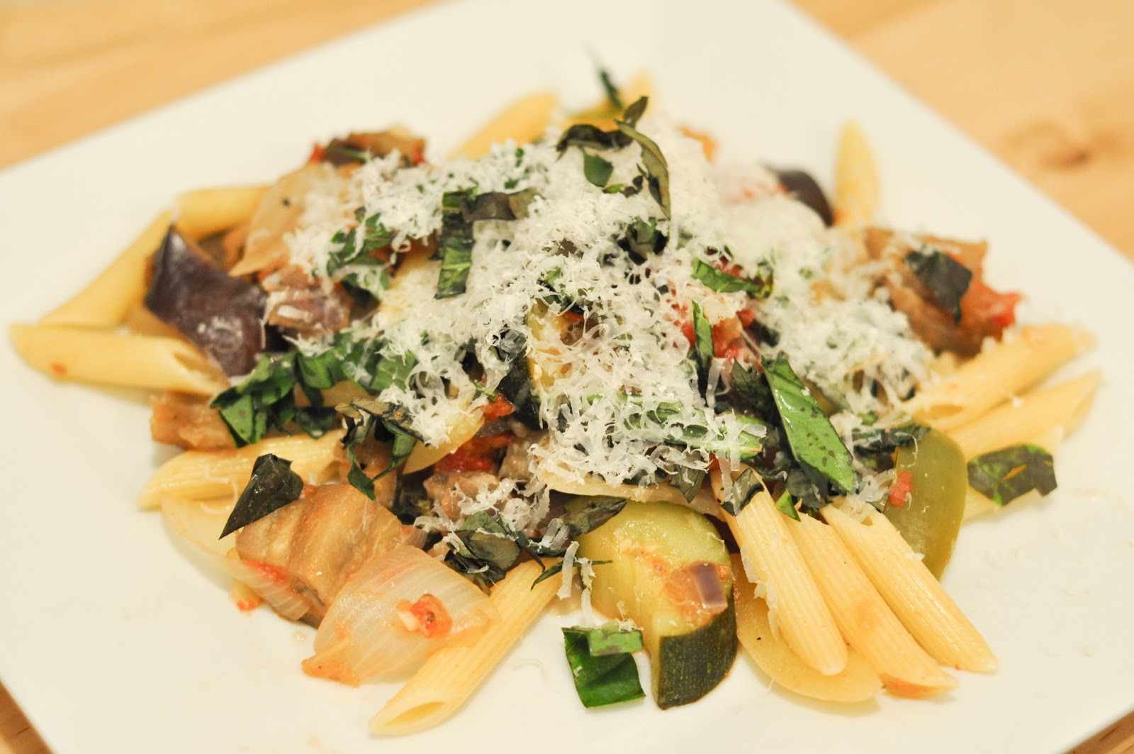 not quite gourmet: Ratatouille with Penne