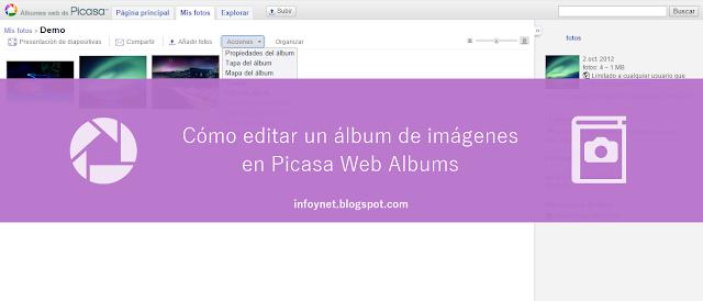 Cómo editar un álbum de imágenes en Picasa Web Albums