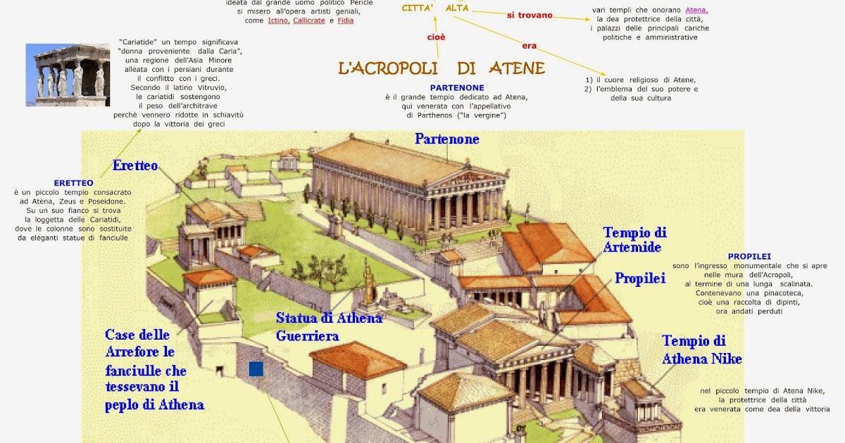 Paradiso delle mappe arte greca l 39 acropoli di atene for Piccole case di rinascita greca