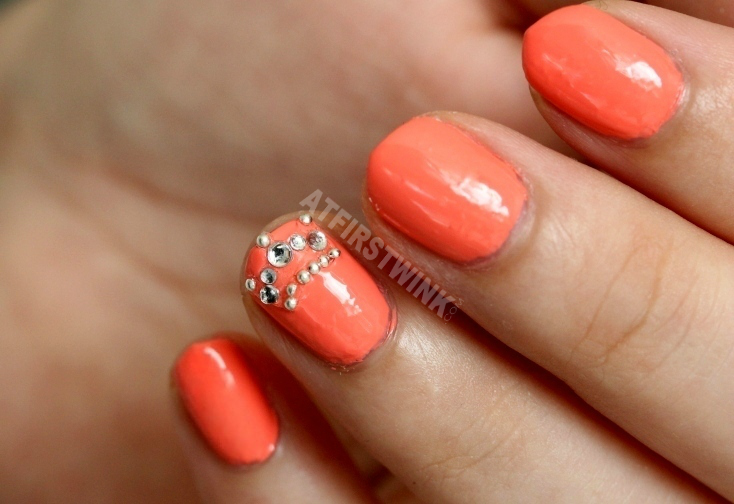 Etude House Sweet Nail Shine Stone - Princess Crown and Essie nail polish tart deco