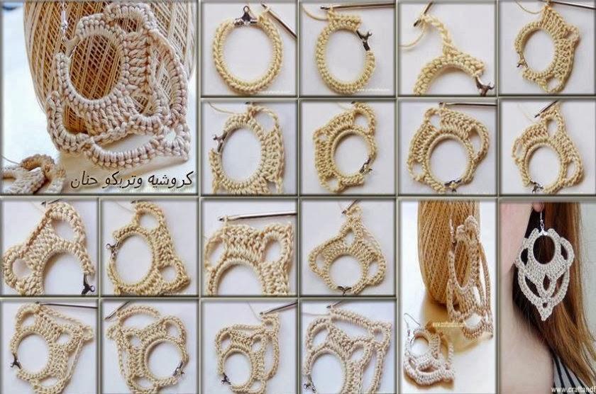 Ben noto Relasé: Crochet: orecchini pendenti all'uncinetto - tutorial  QT96