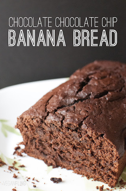 VeganFling: Chocolate Chocolate Chip Banana Bread