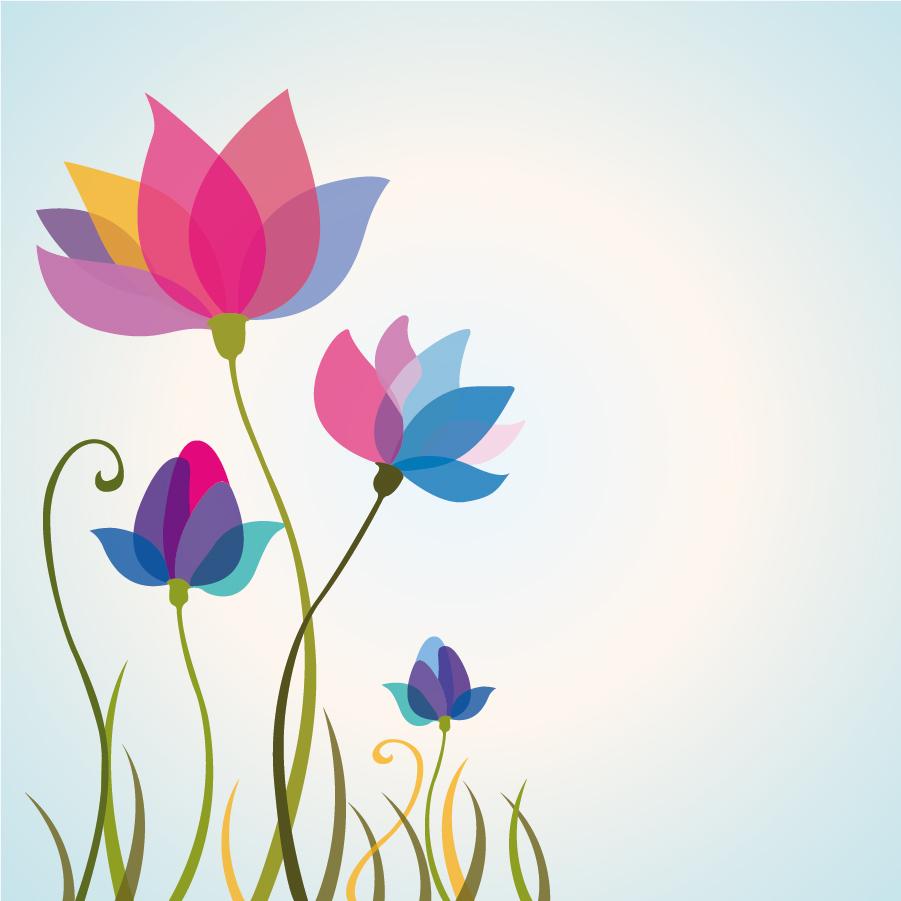 美しい花の背景 Cool and beauty Floral background イラスト素材