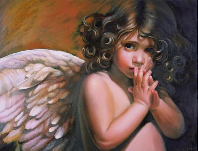 angeles-pintados-al-oleo