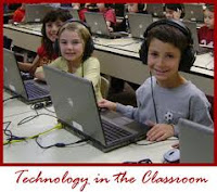 This is a picture of kids using computers