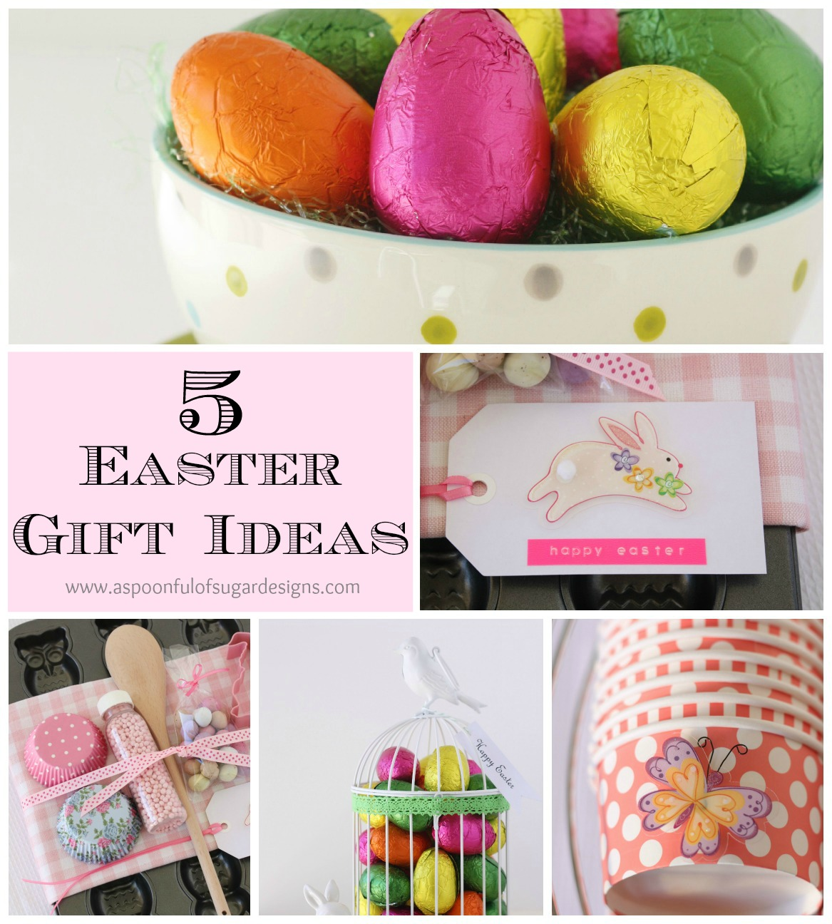 Easter gift ideas a spoonful of sugar we celebrate easter with our extended family over a special meal we exchange small easter gifts usually chocolate eggs or similar negle Choice Image