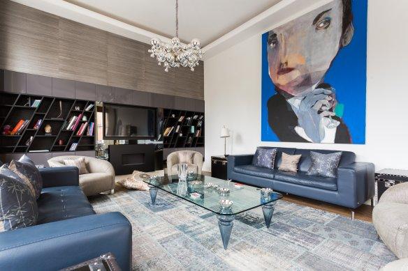 apartamento londinense con el salón azul