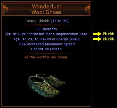 Path of Exile - Wanderlust Wool Shoes