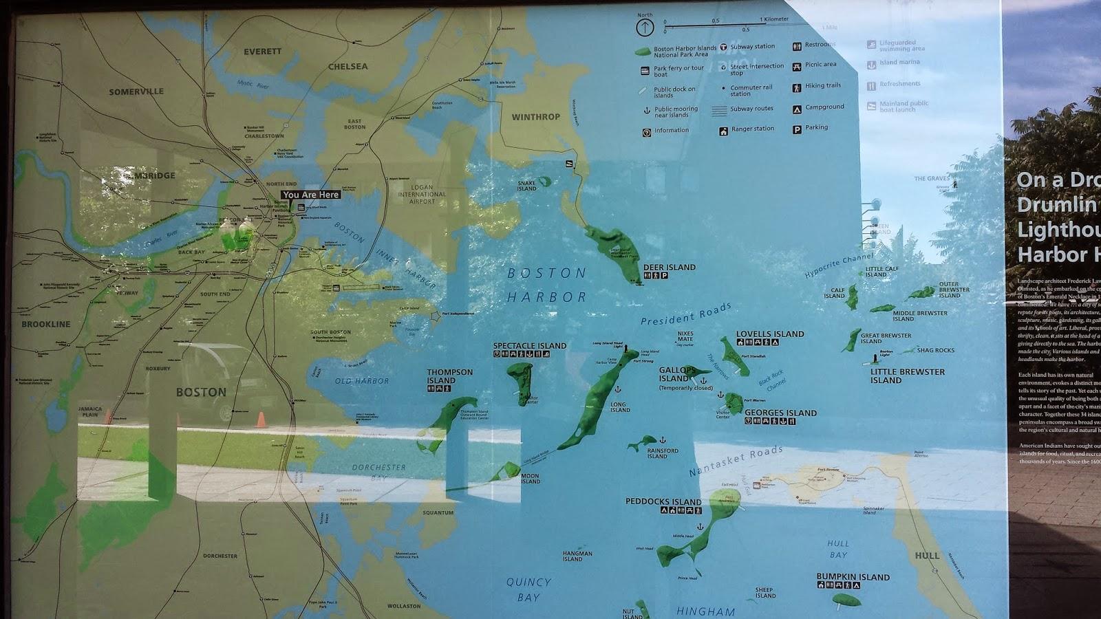 boston harbor islands map