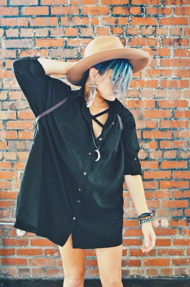 Cleveland Fashion - PYLO oversized shirt dress salem bra