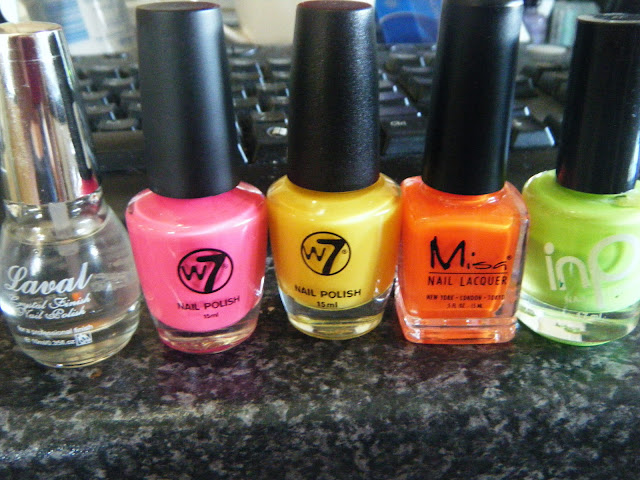 Neon Nail Colours From Beauty Supply Store
