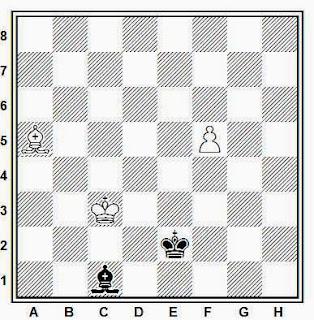 Final de alfil y peón de alfil contra alfil, blancas ganan