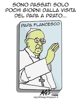 Papa Francesco, vignetta satira