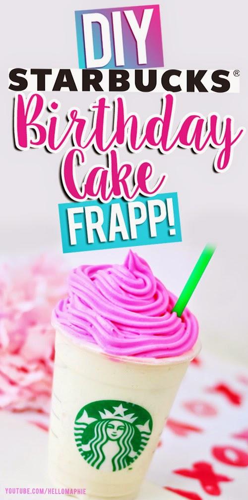 Hellomaphie Diy Starbucks Birthday Cake Frappuccino
