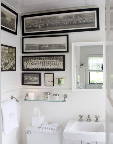 Shorely chic an all white bathroom for All white bathroom accessories