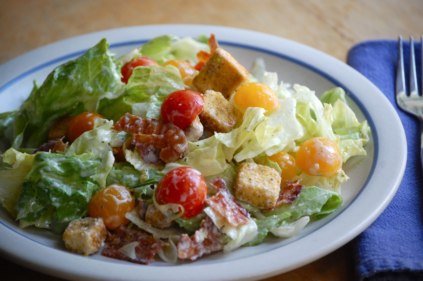 """BLT"""" salad - bacon, lettuce and tomato. :-)"""